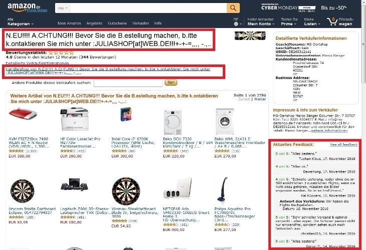 Bild Fakeshop Angebot Händlerseite falsch - So kaufen Sie sicher im Internet ein